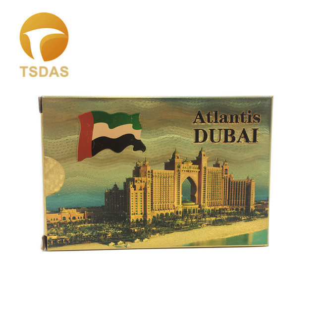 Gold Playing Card Embossed Atlantis Dubai Buildings Dubai: Luxury Gold Foil Custom Playing Cards 54pcs/set, Atlantis
