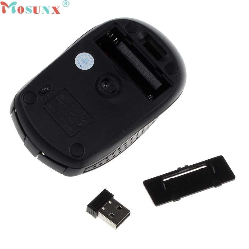 Mosunx Simplestone portátil 2,4G ratón óptico inalámbrico para ordenador PC portátil Gamer 0106