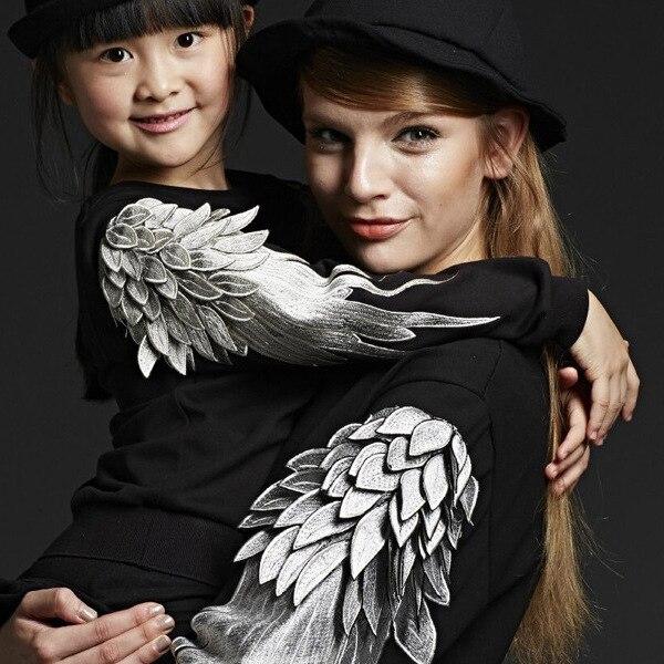 Марсело Burlon ангельские Крылья Ребенка дети балахон Вышивка jicheng рубашка Толстовка зимняя куртка верхняя одежда Мальчики Девочки пальто одежда