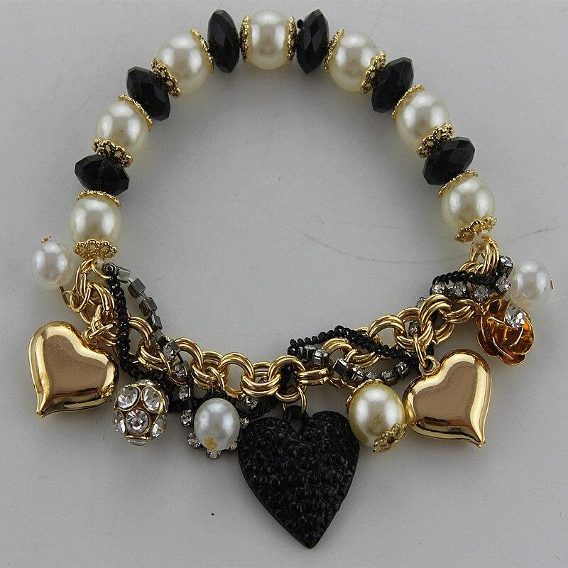 Mode armband 2014 Neue mode und reine und frische ruhig elegante vertraglich perle armband 130729 herzen mehr elemente