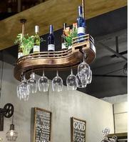 Барный винный стойка для вина подвесная полка для вина дисплей креативная Высокая стеклянная бутылка вина стойка висячая вверх дном дома