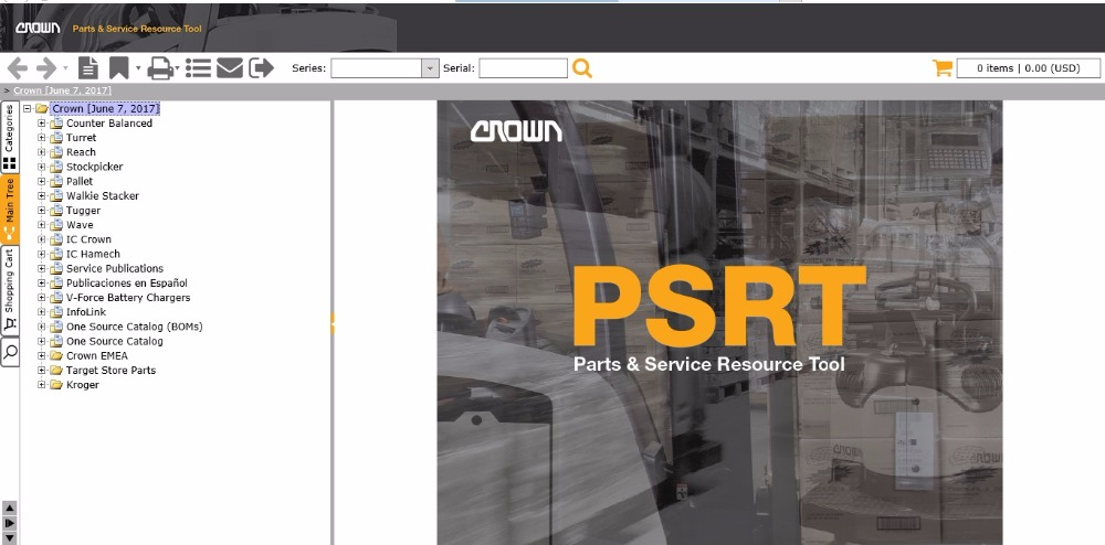 Crown Parts Service PSRT Resource Tool 2 2019 time patch