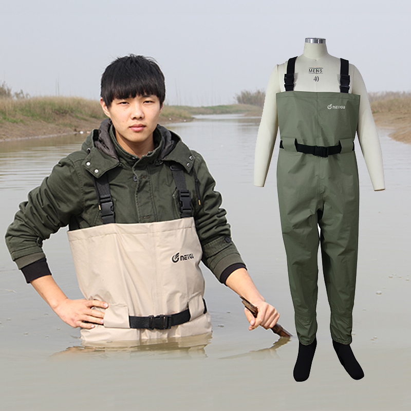Waders de pêche respirants, pantalon de chasse de Rafting de haute qualité, Wader de poitrine de Stockingfoot