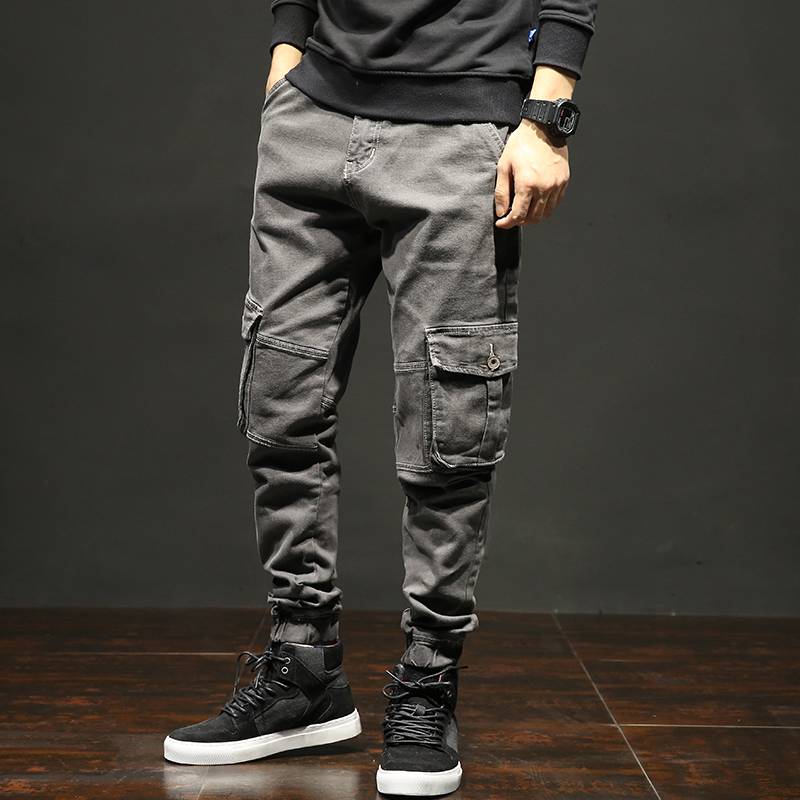 Cotton Trousers Harem-Pants Multi-Pocket Male Winter Large-Size High-Quality Size-42