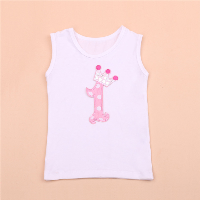 Cotton Children t shirts Clothing Minions Costume Baby Boys Girls T-Shirt Cartoon 1st Birthday Casual Sleeveless Kids Clothes