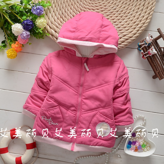 New 2015 winter children Outerwear international children's wear coat boys girls down cotton-padded clothes