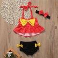 Verano Punto Lindo Marinero Niño Bikini Falbala 2017 Trajes de Baño de Talle Alto Traje de Baño para Niñas Bebés Niños traje de Baño Biquini