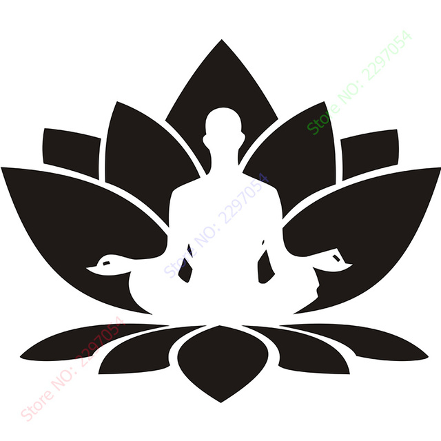 Vinyl wall sticker home decal wall decal lotus flower seated buddha vinyl wall sticker home decal wall decal lotus flower seated buddha meditation yoga studio home decoration mightylinksfo Image collections
