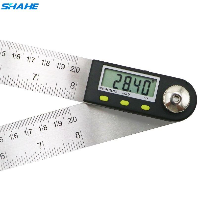 Localizador de Ângulo Digital 200 milímetros Governante Ângulo Digital Transferidor Goniômetro Digital 2-em-1 Calibre Com Aço Inoxidável lâminas