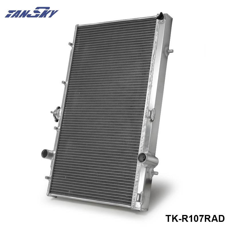 42mm 2 Row Aluminum Racing Cooling Radiator for Mitsubishi LANCER EVO 4 5 6 1997 1998 1999 2000 MT TK-R107RAD 42mm 2 row aluminum alloy racing cooling performance radiator for mitsubishi lancer evo 7 8 9 2001 2007mt r109rad