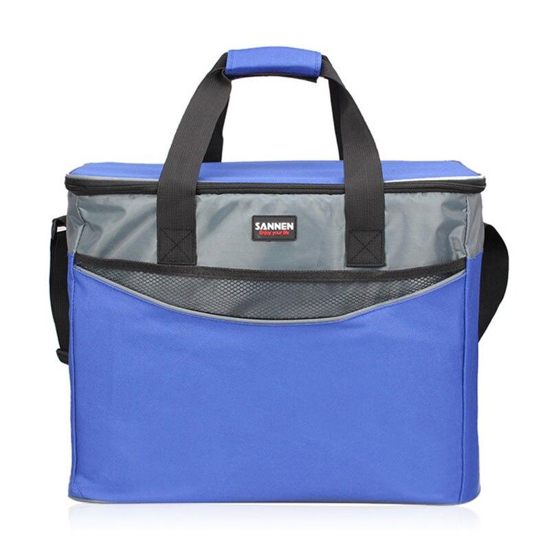 34L Große Oxford Thermische Isolierung paket Picknick Tragbare container taschen Die anlage paket Lebensmittel isoliert tasche kühltaschen