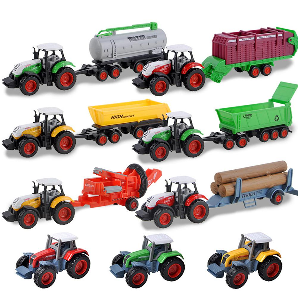 Children Simulation Farm Tractor Farmer Harvester Agricultural Molding Vehicle Simulation Car Children Gift Kids Toys