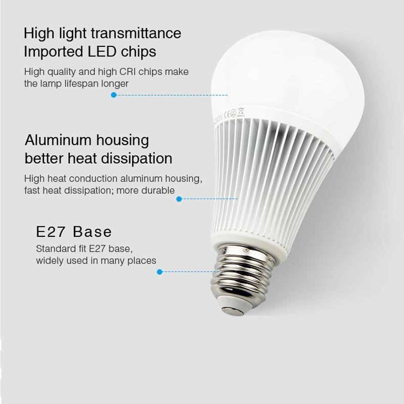 YB1 2 4G 9W RGB CCT Wifi Led Bulb 2 4G Wireless Led Lamp 2700K 6500K Dimmable 2 in 1 Smart Led Light AC100 240V in Energy Saving Fluorescent from Lights Lighting