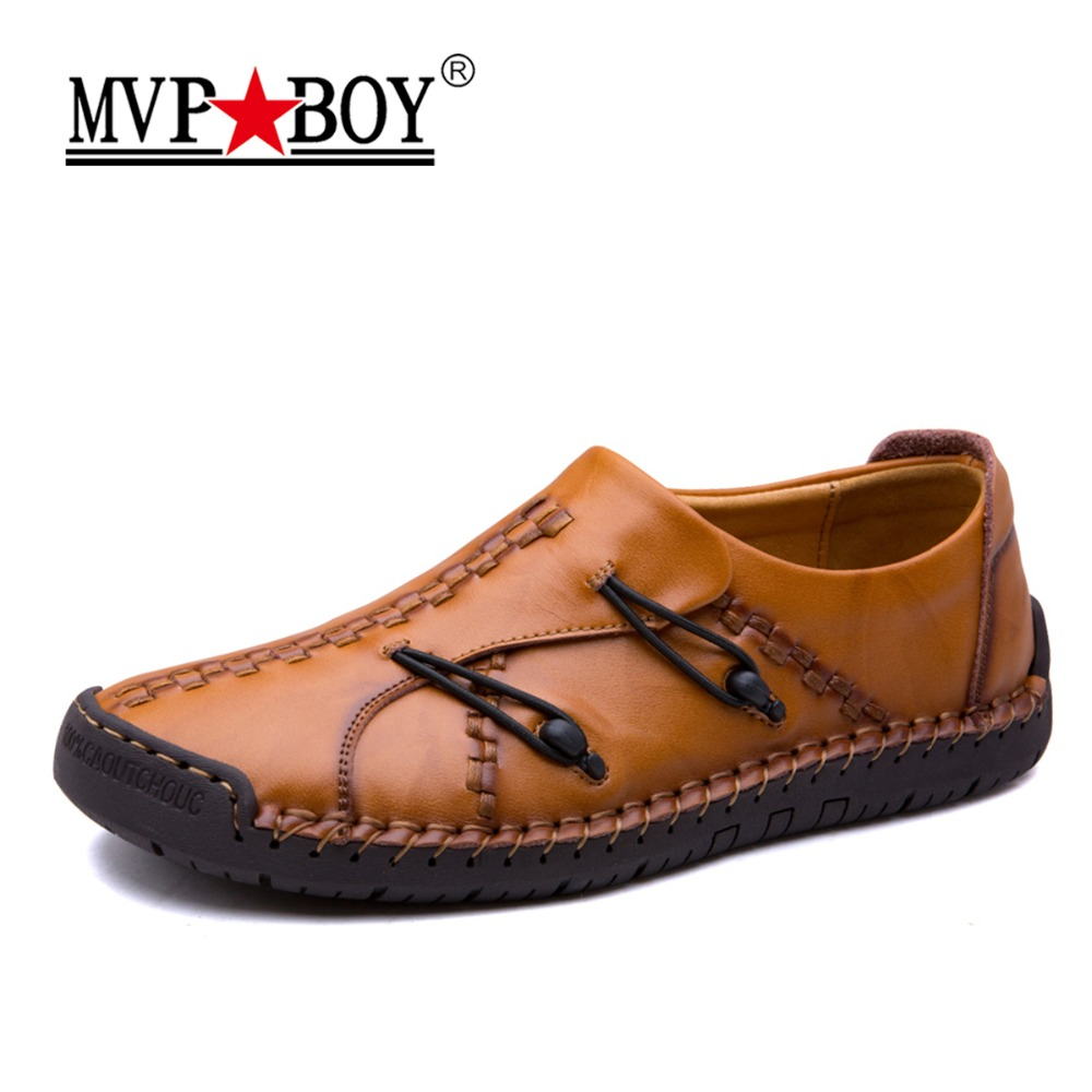 MVP BOY Brand Men Casual Leather Shoes Men Flats Leather Casual Mens Luxury Fashion Shoes Italian Style Shoes Men Leather Shoes cbjsho brand men shoes 2017 new genuine leather moccasins comfortable men loafers luxury men s flats men casual shoes