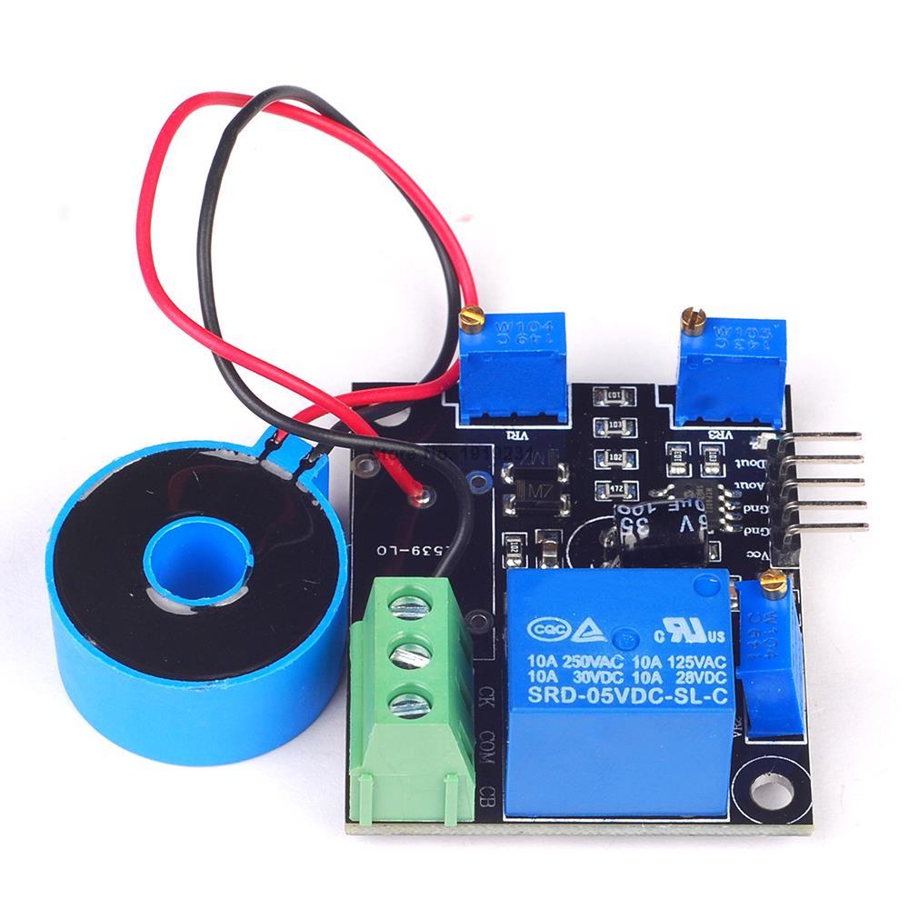 DC 5V Current Detector Sensor Module AC / Short Circuit Detection Max AC 50A Switch Output