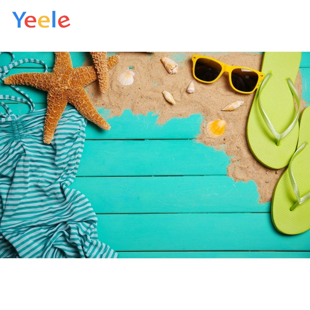 Yeele Ocean Shell Swimsuit Simple Wood Board Planks Fashion Show Photography Backgrounds Photographic Backdrops For Photo Studio in Background from Consumer Electronics