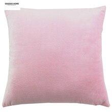 GGGGGO CASA, llano teñido tela de terciopelo rosa cubierta cojín/cojín/pillow case for sofá/casa/coche/decoración del hotel