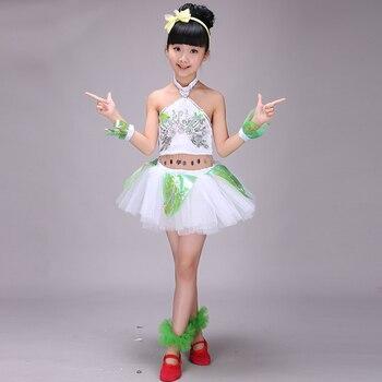 Vestido De Baile De Jazz De Lentejuelas Moderno Para Niñas