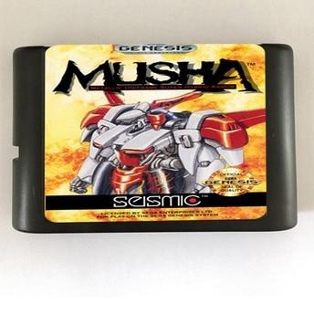 Top quality 16 bit Sega MD game Cartridge for Megadrive Genesis system — MUSHA