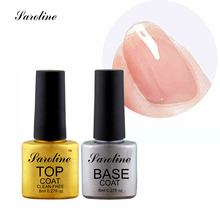 Saroline Top Coat Base Coat Gel Nail Polish UV Curing Nail Builder Foundation Gel Professional Gelishgel Nail Primer
