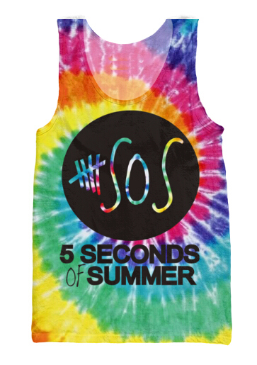 350a5d3b0e5 New 3d Tank Top hipster Tie Dye galaxy 5 Second Of Summer 5 SOS Summer Shirt