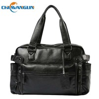 Chuwanglin Fashion men's leather travel bags male handbag casual shoulder bags Large capacity luggage bags weekend bag S4010