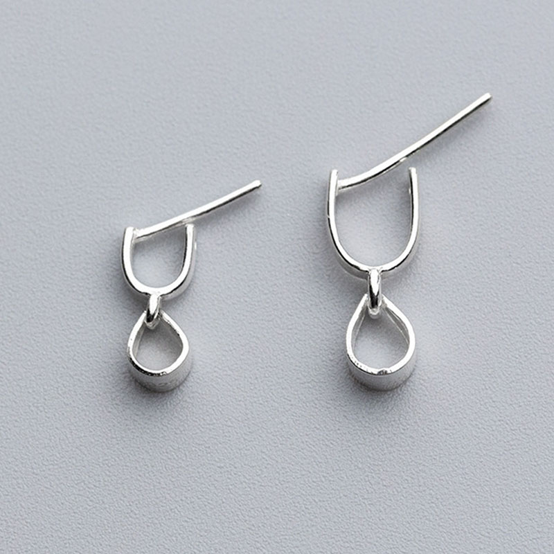 Lots DIY Jewelry Findings 925 Sterling Silver Lobster Clasps Ear Hook Connector