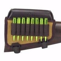 Tourbon Hunting Gun Accessories Rifle Gun Buttstock Cheek Rest Pad Canvas Cartridges Holder For Shooting