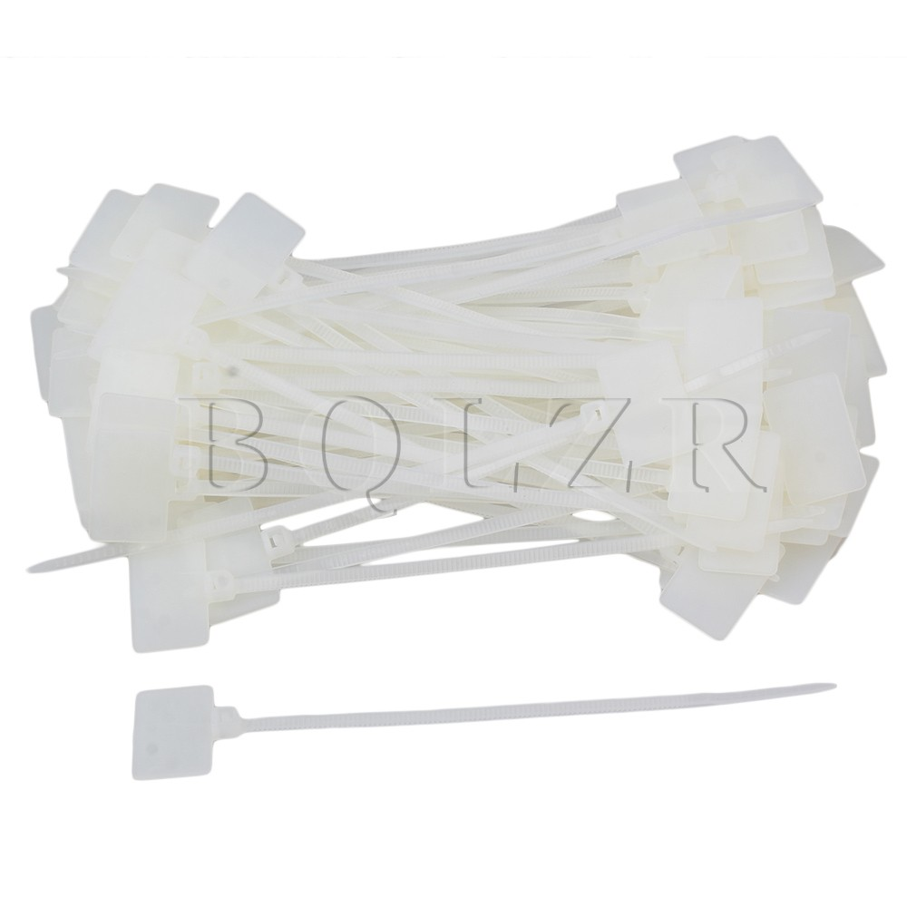BQLZR 100 PCSCable Zip Ties Ethernet Wire Power Label Mark ...