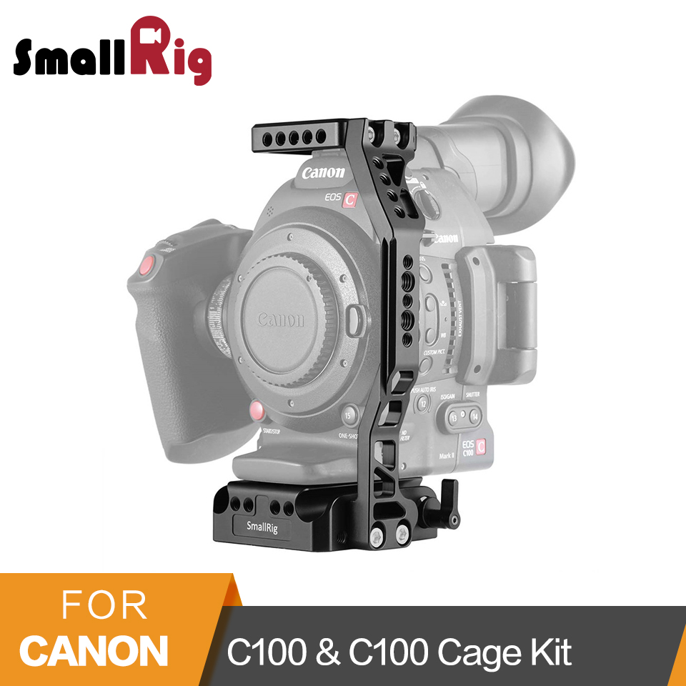 SmallRig Camera Video Cage with 15 mm Rod Clamp for Canon EOS C100 & C100 Mark II 1703
