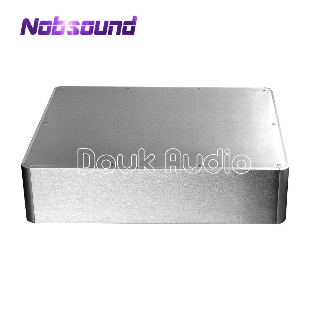 купить Nobsound Power Amplifier/Pre-Amp/DAC Audio/Headphone Amp Chassis Aluminum Enclosure DIY онлайн