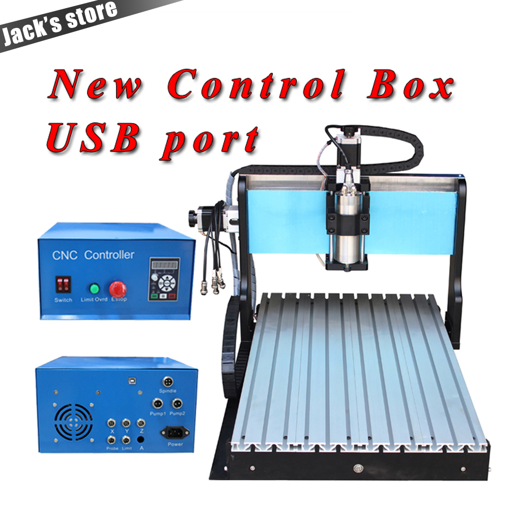 25-pin parallel port!!! 6040Z-S++, 800W Spindle +1.5kw VFD CNC6040 CNC Router water-cooling Metal engraving machiney cnc machine 1pc 4axis cnc router 6040z usb mach3 auto engraving machine with 1 5kw vfd spindle and usb port for hard metal