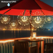 Silver Wire Hanging Starburst Fairy String Light 80LED Remote Control Holiday Battery Operated Christmas Decoration
