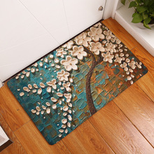 Flannel Carpet 3D Printed Tree Traditional Chinese 40x60cm 50x80cm Doormat Bedroom Carpets For Living Room Hallway Tapis