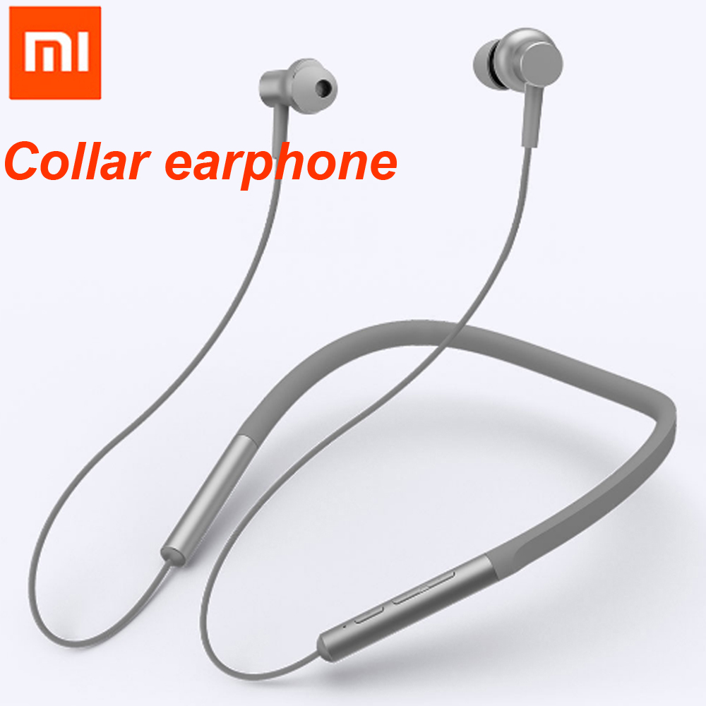 Xiaomi Bluetooth Collar Earphones Headset Sport Wireless Bluetooth Head phone In-Ear Magnetic Mic Play Dual Dynamic Head phone