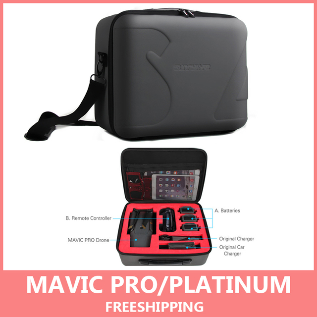 For Mavic Pro Carrying Case Hard Shell Storage Bag for Mavic Pro Camera Drone and Smart Controller Box