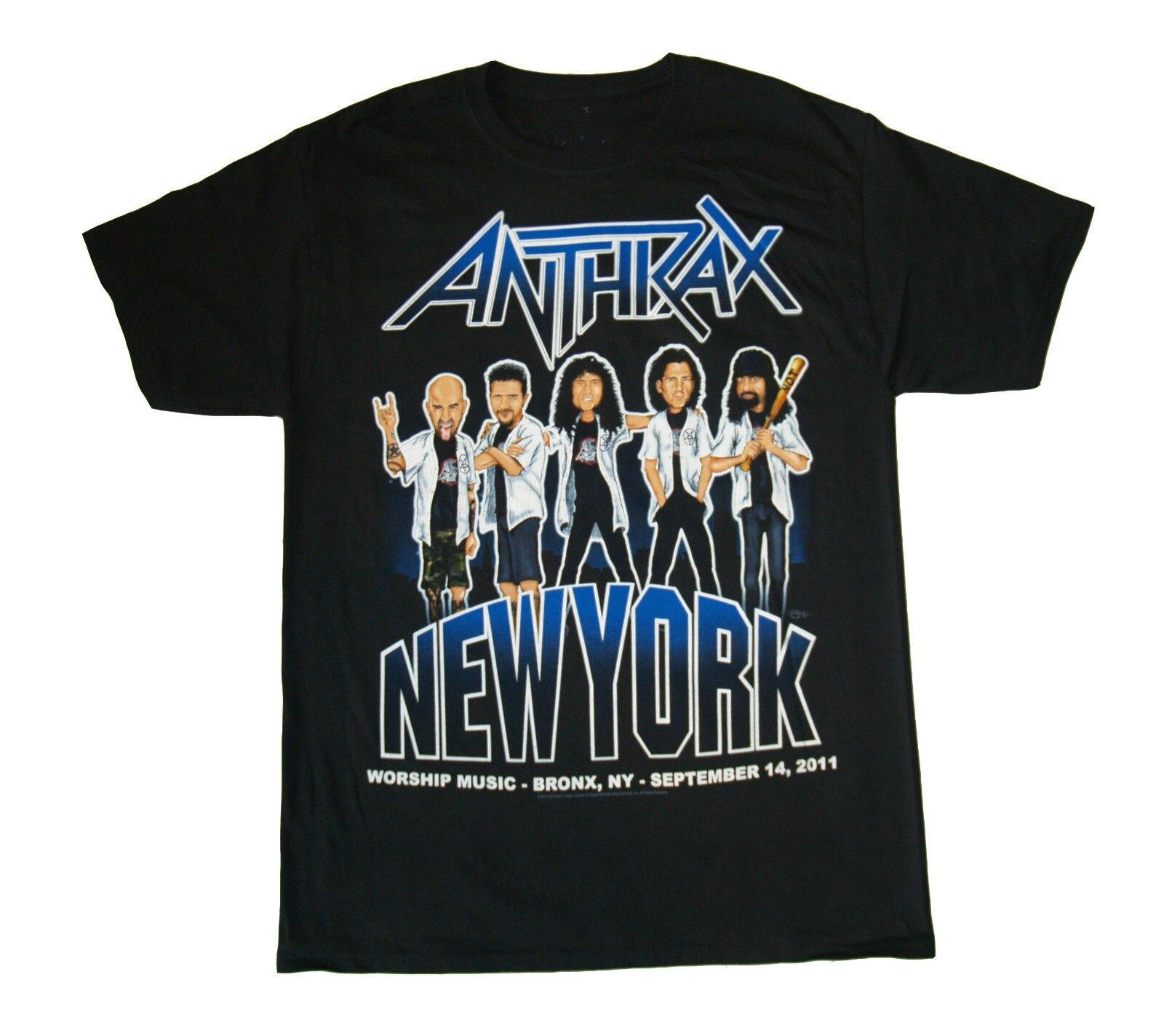 Gildan ANTHRAX Band Logo T SHIRT M- Brand New Official T Shirt custom t shirt making