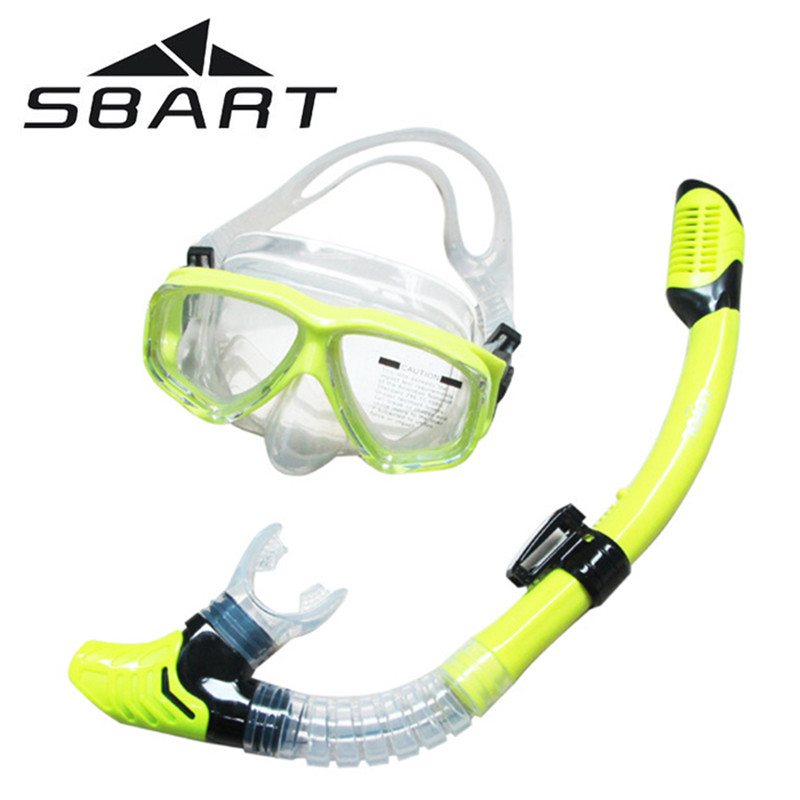 SBART Water Sports Training Snorkeling Swimming Glasses Equipment Anti-Fog Silicone Scuba Diving Mask Goggles Full-dry Snorkel a1914db