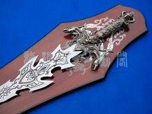 S4009 rey del Mal águila serpiente fantasma demonio espada W/dos cuchillas laterales ojos rojos 43