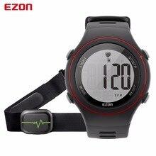 Новый Ezon T037 Для мужчин Для женщин спортивные наручные часы цифровой сердечного ритма Мониторы открытый Бег часы, будильник, хронограф с нагрудный ремень