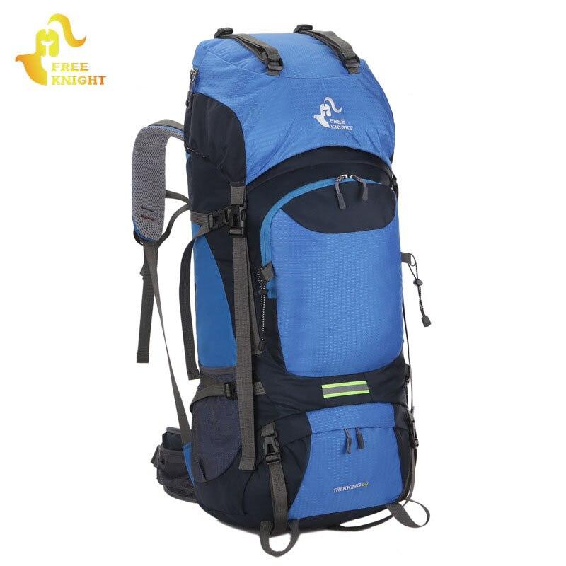 Chevalier gratuit 60L Sports de plein air sacs étanche randonnée sac à dos sac tactique Molle alpinisme sacs à dos Camping sacs à dos