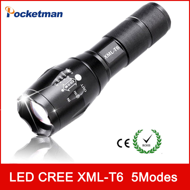 zk93 3800Lumens E17 XM-L T6 led Torch Zoomable LED Flashlight Torch light For 3xAAA or 1x18650 Free shipping все цены