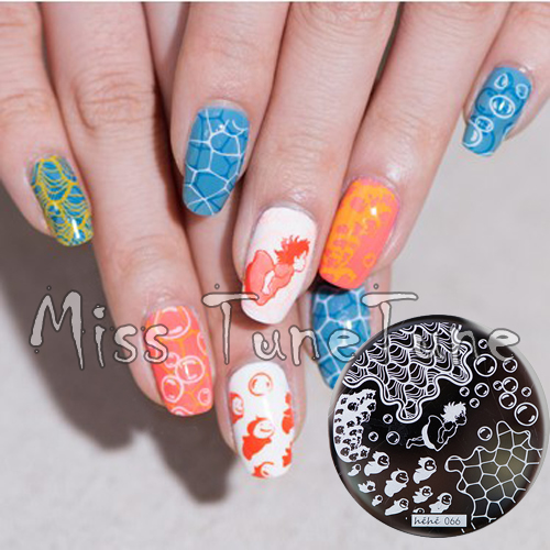 New Stamping Plate hehe66 Ccean Wave Water Bubbles Sea Nail Art Stamp Template Image Transfer Stamp