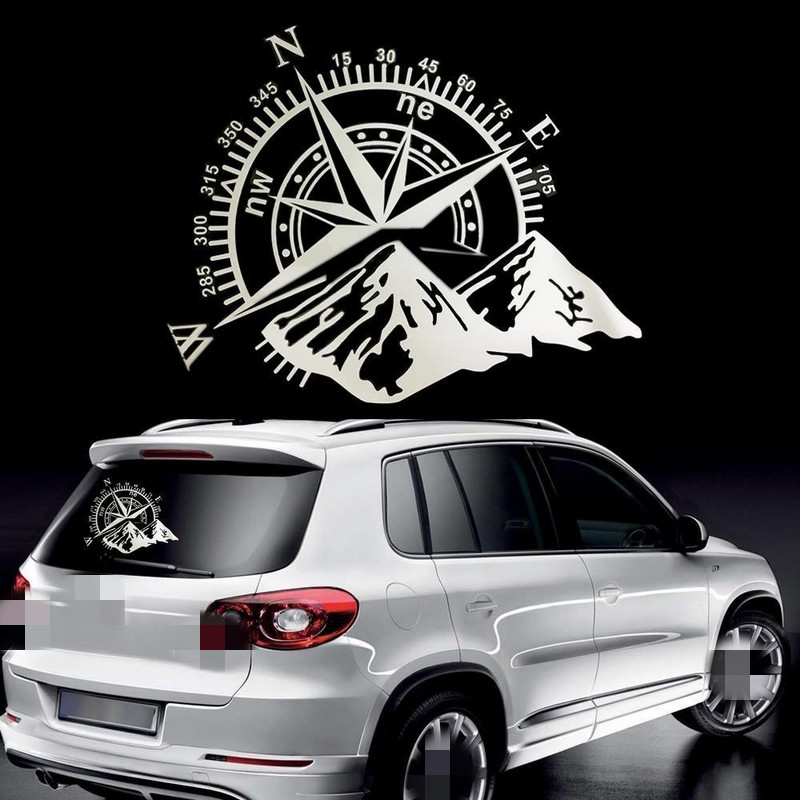 Image 3 - Car Stickers 50x60cm Compass Off Road Car Sticker and Decal Rose Navigate Vinyl Sticker Auto Laptop Car Door and Stickers Hood-in Car Stickers from Automobiles & Motorcycles