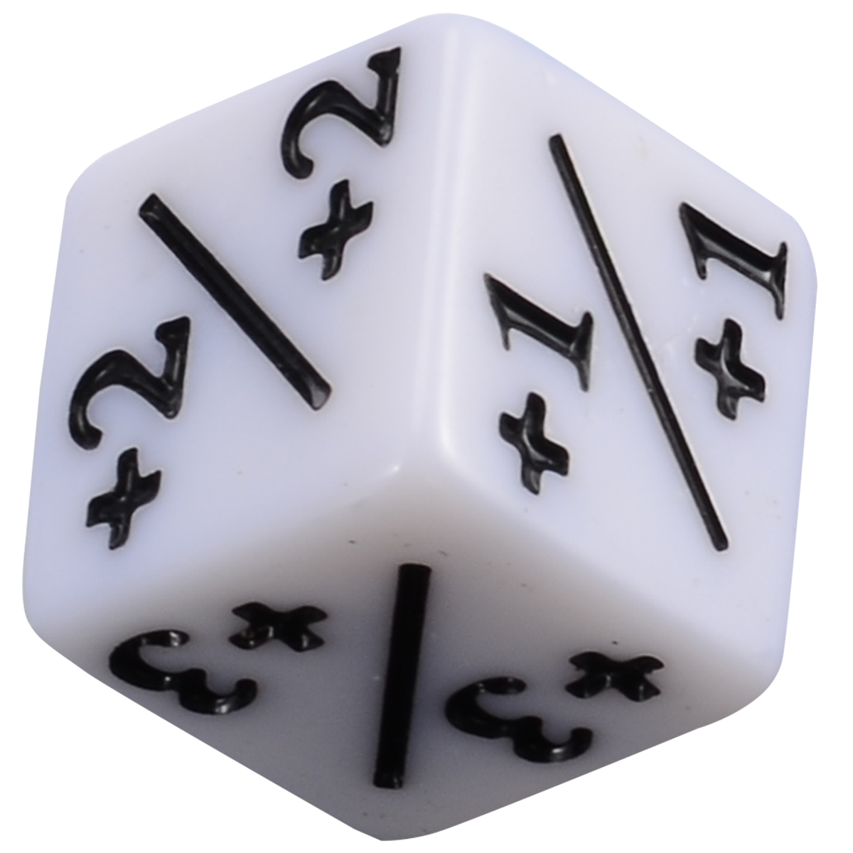 5pcs Negative +1/+1 Dices White Dice Counters For Magic Gaming The Gathering MTG Games Interesting Outdoor Party Activities Tool