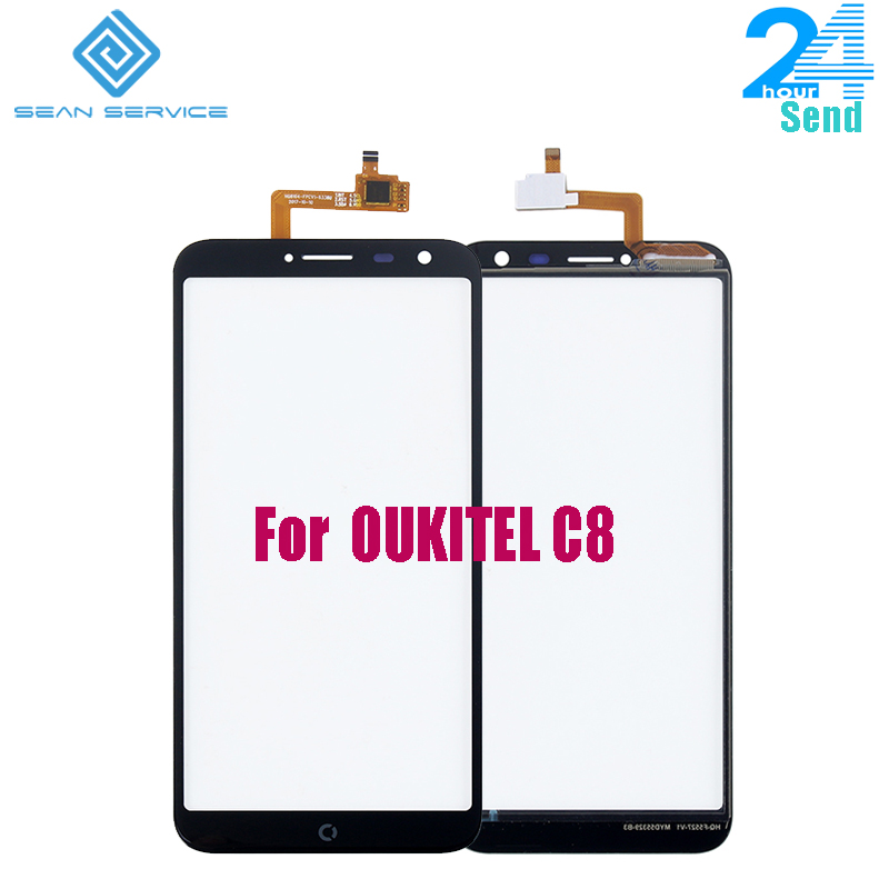 For 100% Original OUKITEL C8 Touch Panel Perfect Repair Parts Touch Replacement 5.5inch Oukitel C8 Oukitel C8 Phone Use Stock