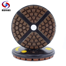 RIJILEI 8inch Diamond Resin Bond Grinding Plate 200mm Discs Polishing pad for Marble Granite Concrete YG33