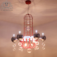 TZ Pendant Lamp Modern Electroplating Lighting Foyer Dinning Room Bed Room Fashion Romantic Chandelier Luminaria Lustres