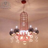TZ Pendant Lamp Modern Electroplating Lighting Foyer Dinning Room Bed Room Fashion Romantic Chandelier Luminaria Lustres