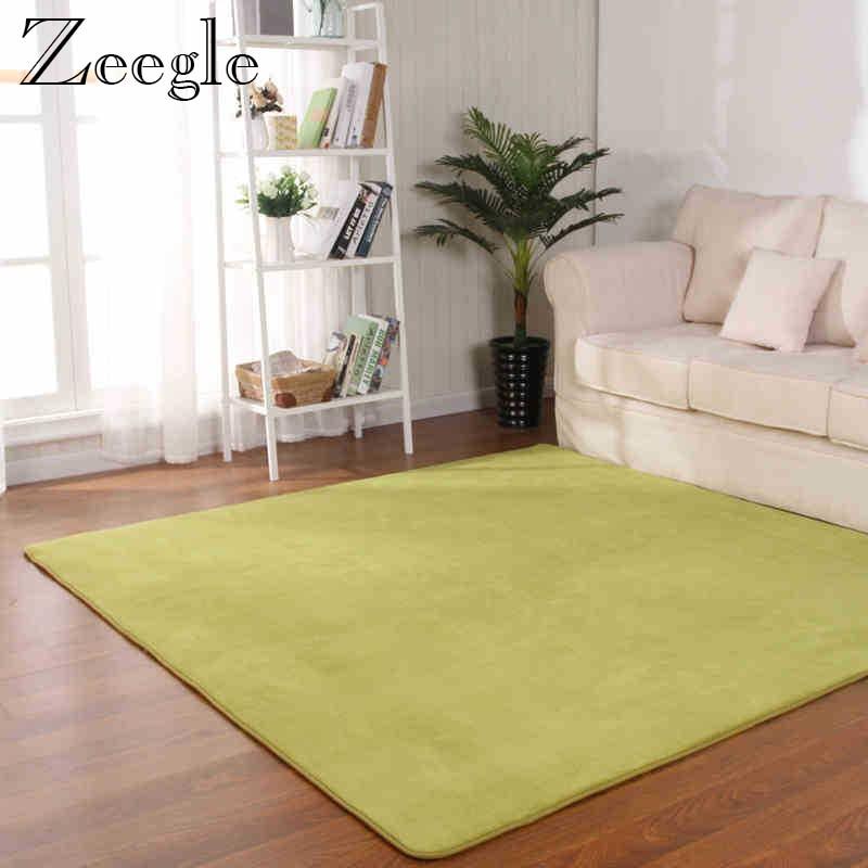 Zeegle Carpet For Living Room Floor Mat Coral Fleece Door Mat Soft Memory Foam Bathroom Carpet Rugs Soft Children Bedroom Carpet
